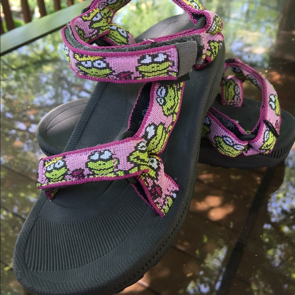 9a0665a9 Teva Shoes | Toddler Girls Pink Green Frog Sandals 9m | Poshmark